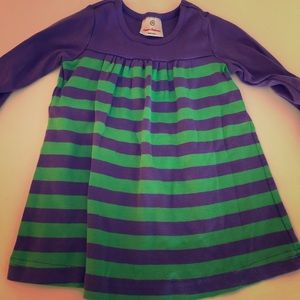 Hanna Anderson long sleeved striped dress